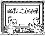 English Teacher Welcome Coloring Page