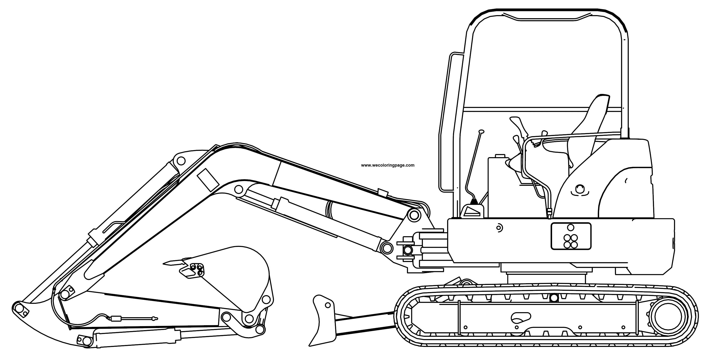 Excavator 4 Mini Excavator Hitachi Ex50u Side Coloring Page