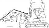 Excavator 4 Mini Excavator Hitachi Ex50u Side Perspective Coloring Page
