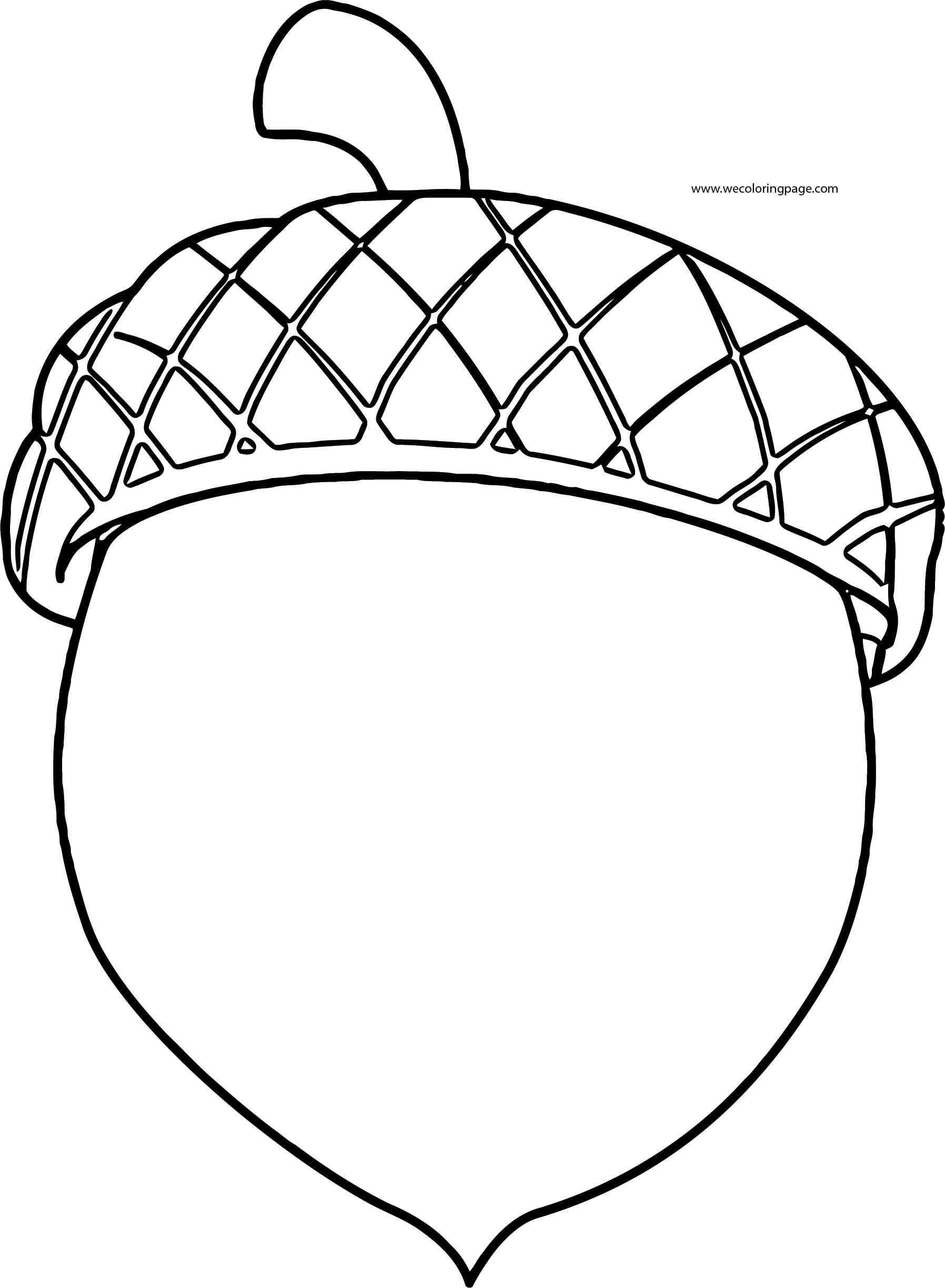 Fall Chestnut Coloring Page Wecoloringpage