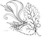 Fall Flower Design Coloring Page