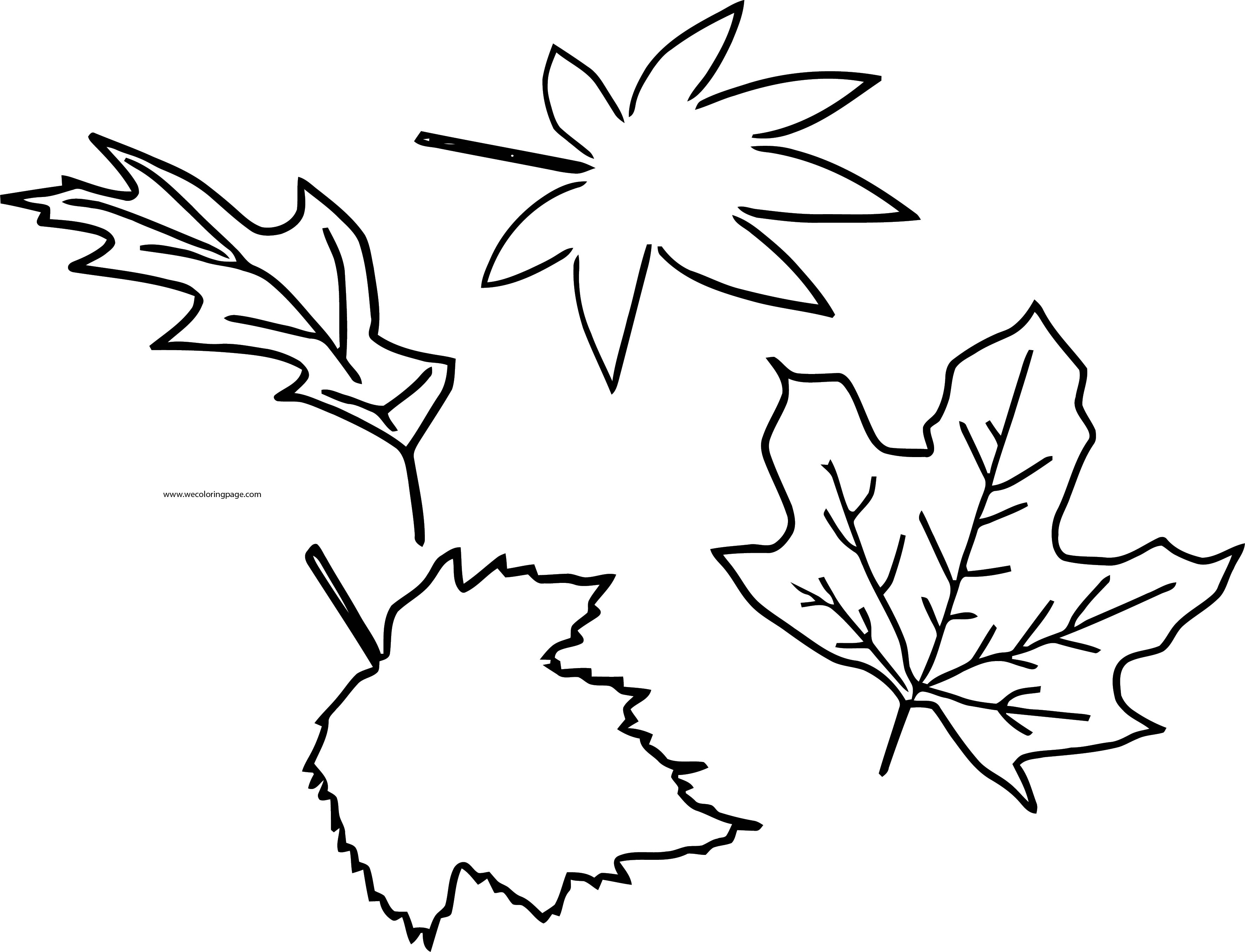 Fall Leaf Style Coloring Page