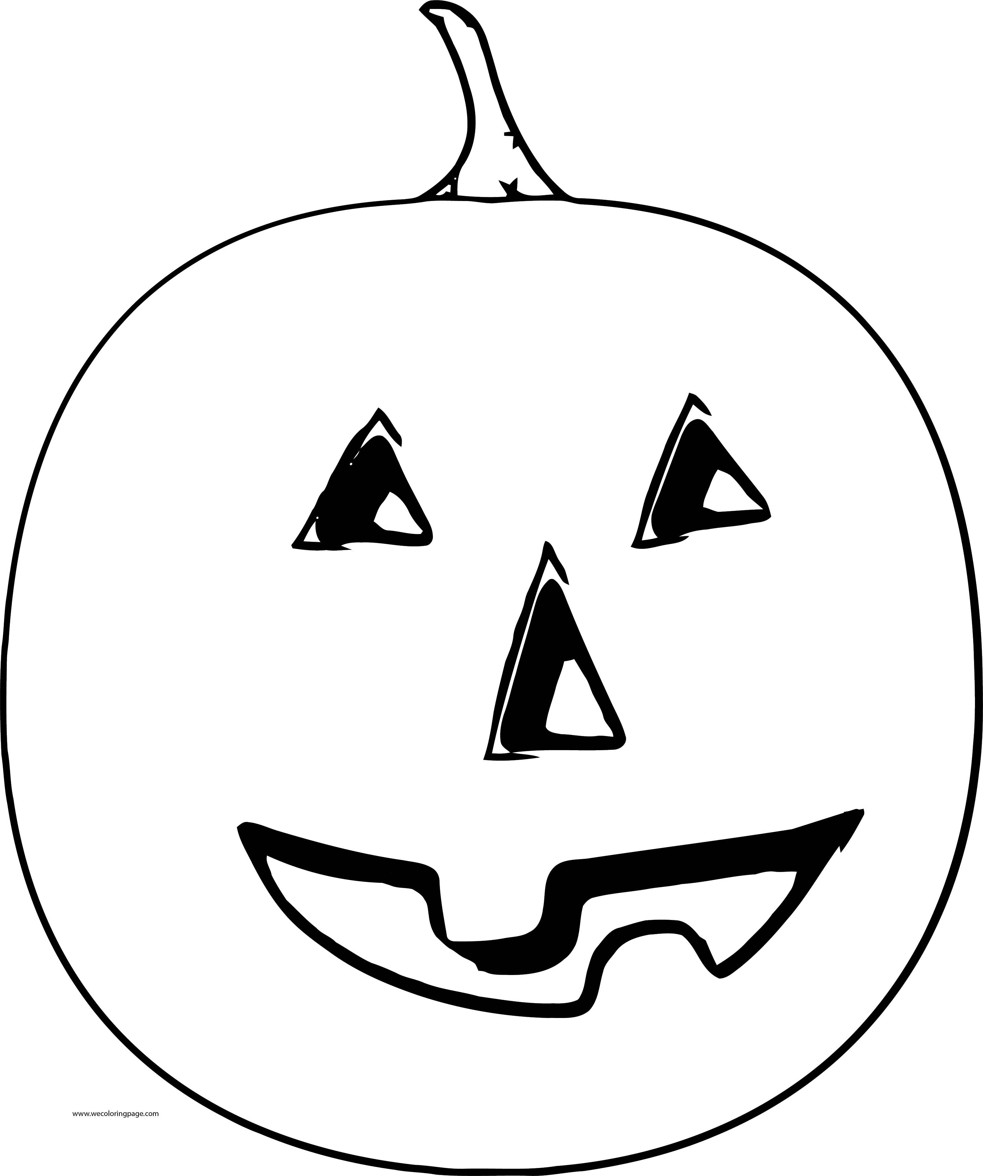 Fall Scream Pumpkin Coloring Page