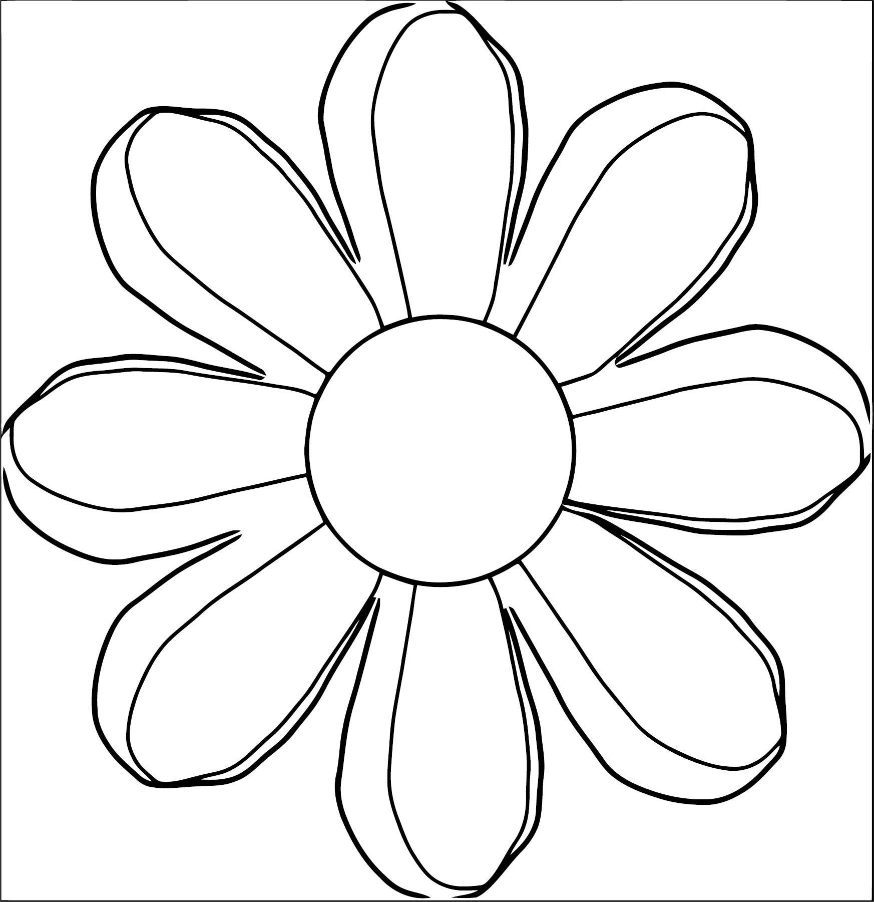 Flower Coloring Page Wecoloringpage 100
