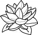 Flower Leaf Coloring Page