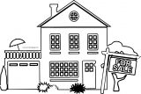 For Sale Home Homes Coloring Page