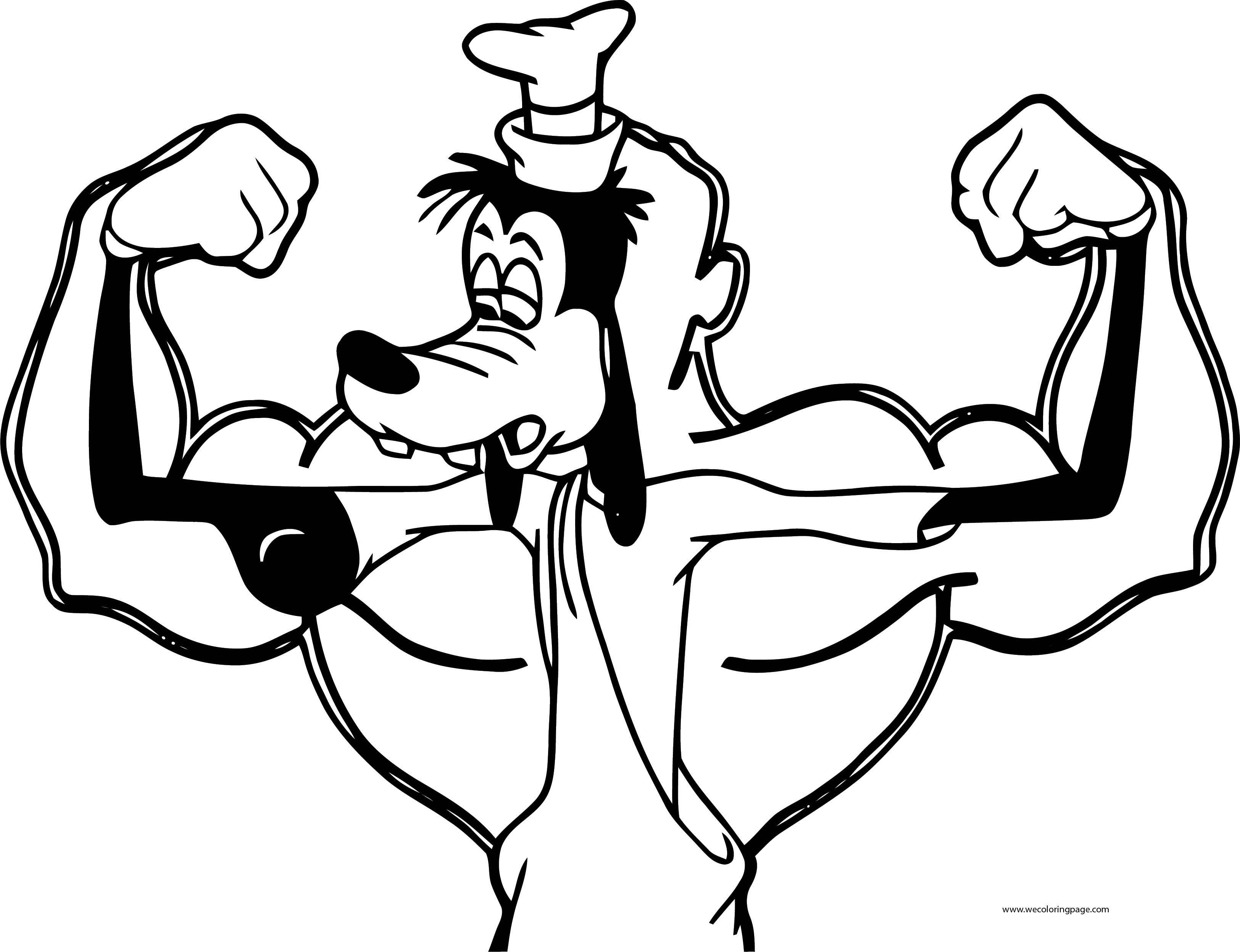 Goofy Gymnastics Walt Disney Coloring Page