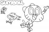 Gumball Sweet Motion Coloring Page