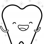 Happy Teeth Cartoon Coloring Page