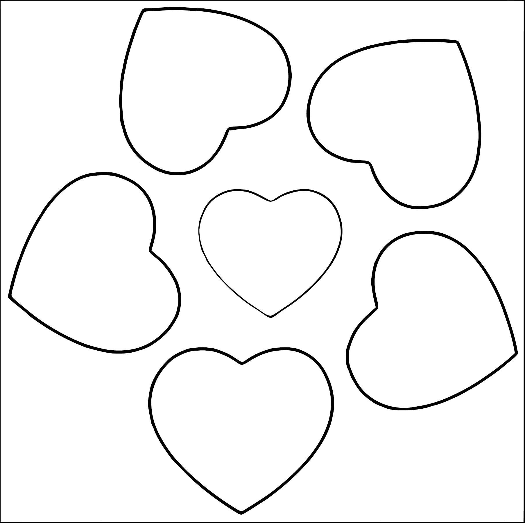 Heart Flower Coloring Page