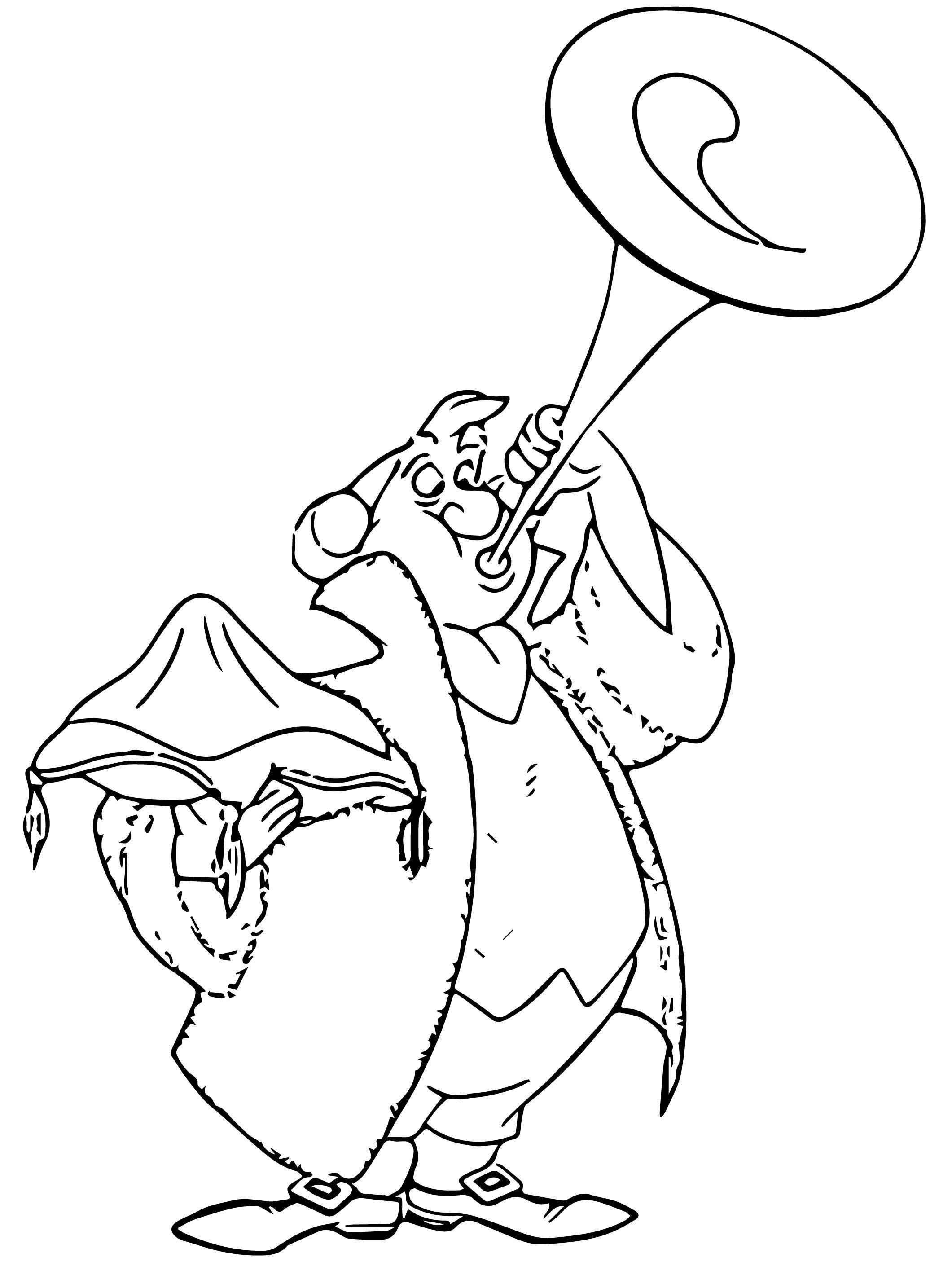 Herald Coloring Page