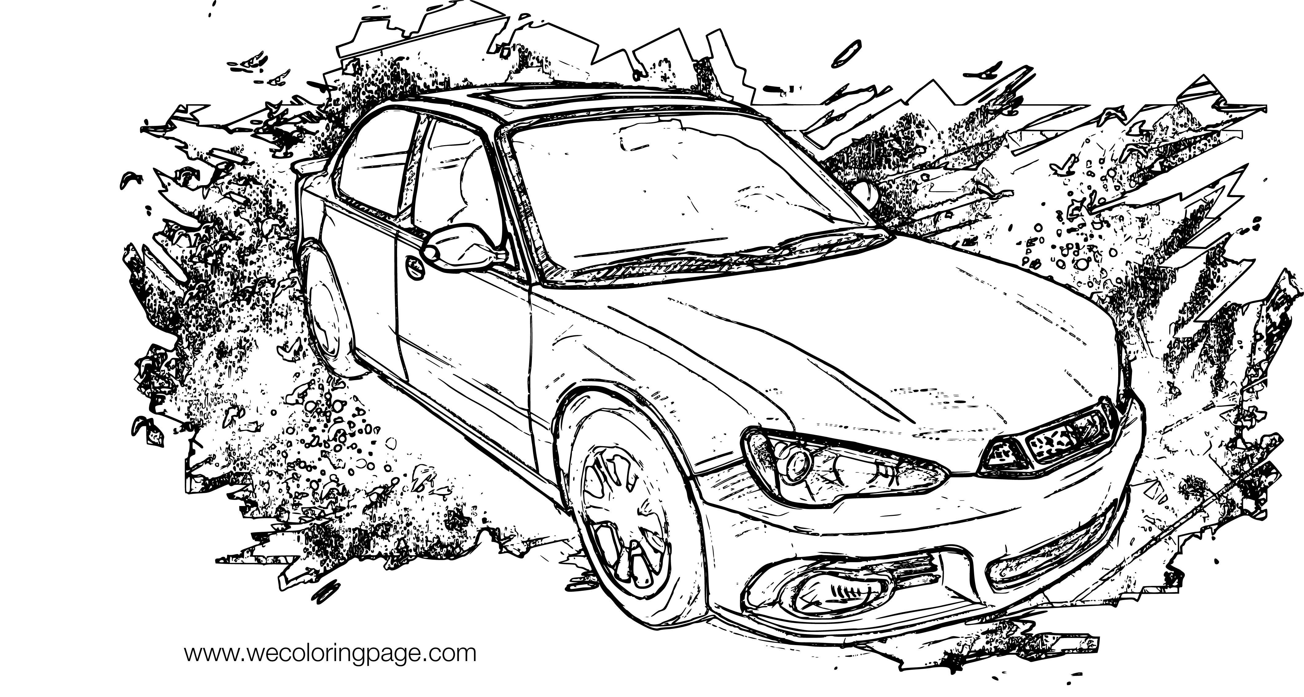 Hirochi Sunburst Car Coloring Page