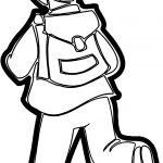 His Boy Run School Bag Coloring Page