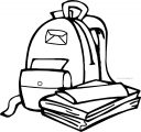 Hot School Bag Coloring Page