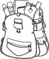 I School Bag Coloring Page
