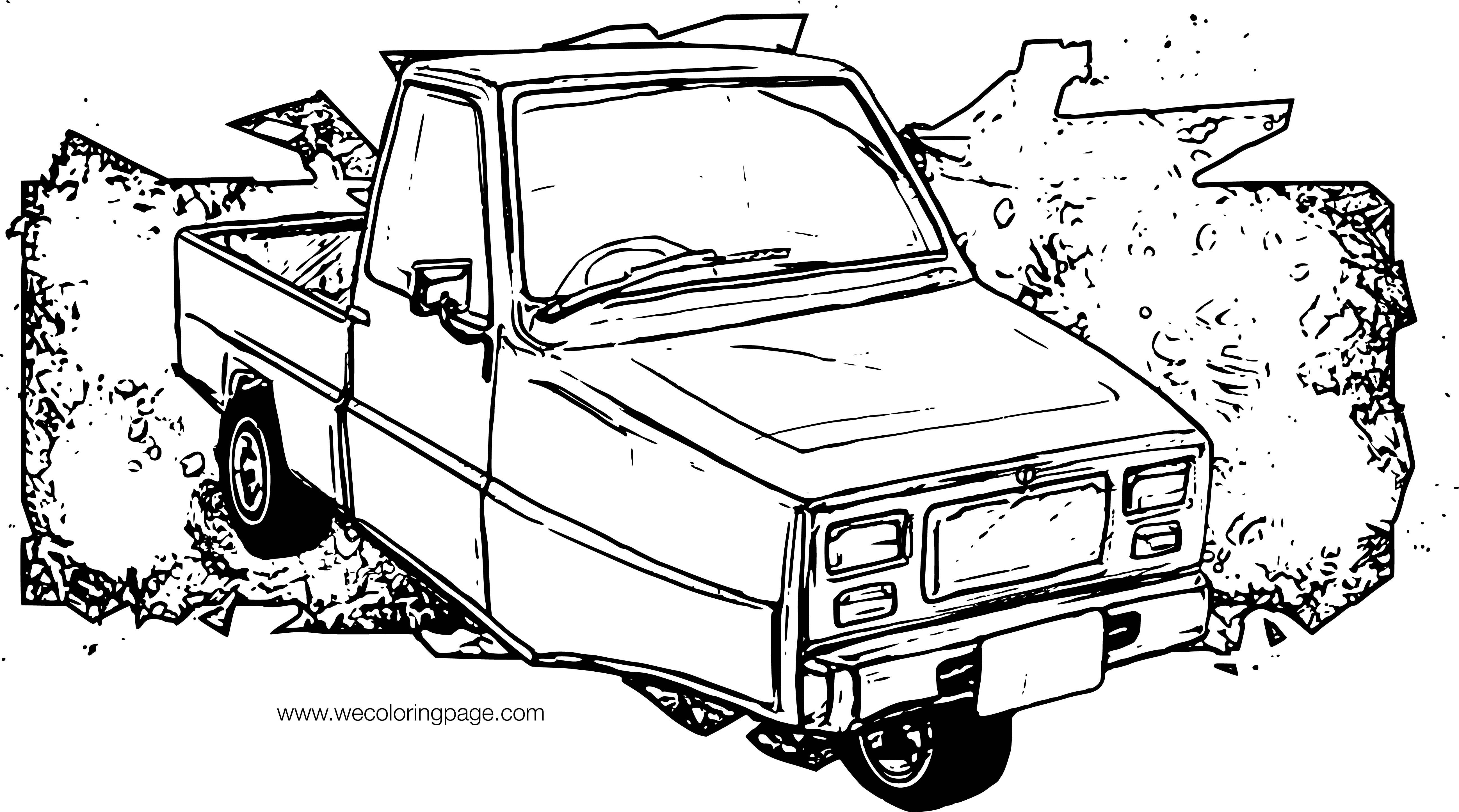 Ibishu Pigeon Truck Car Coloring Page