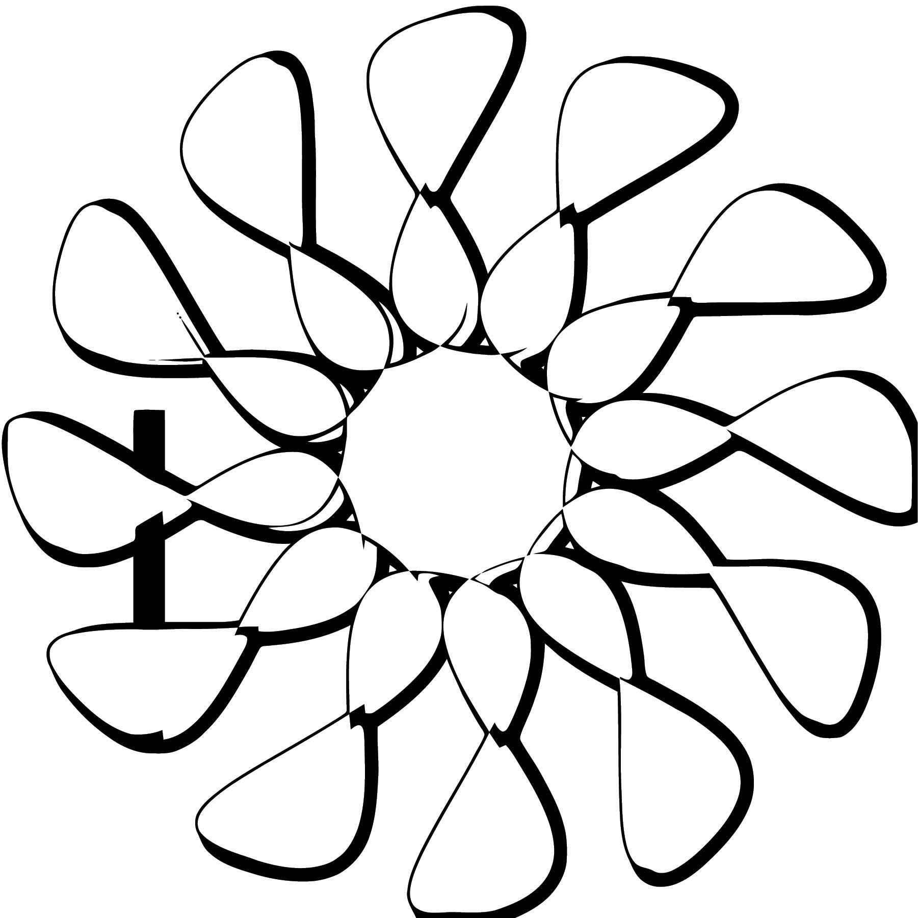 Icona Flower Coloring Page