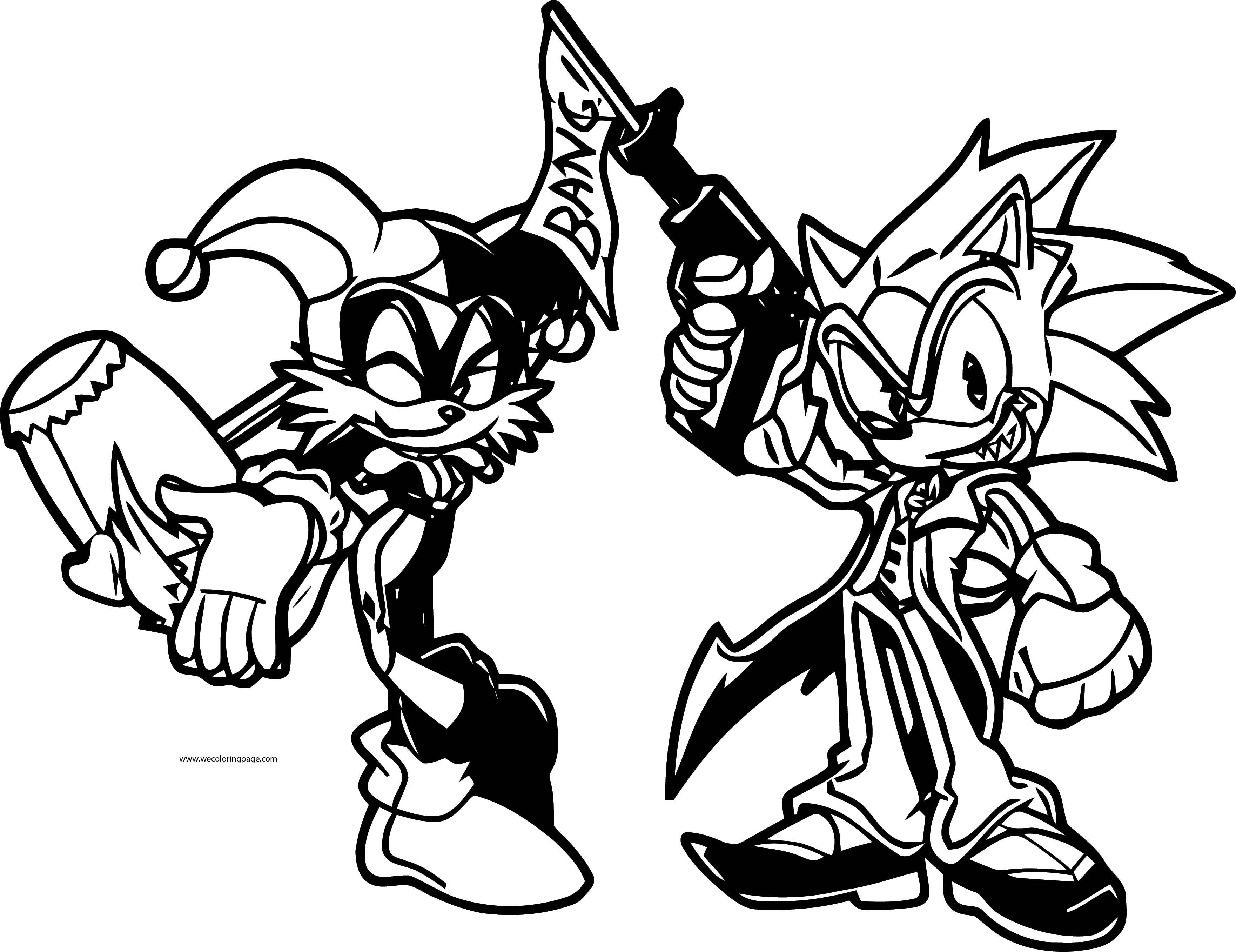 Joke Sonic The Hedgehog And Crown Girl Coloring Page