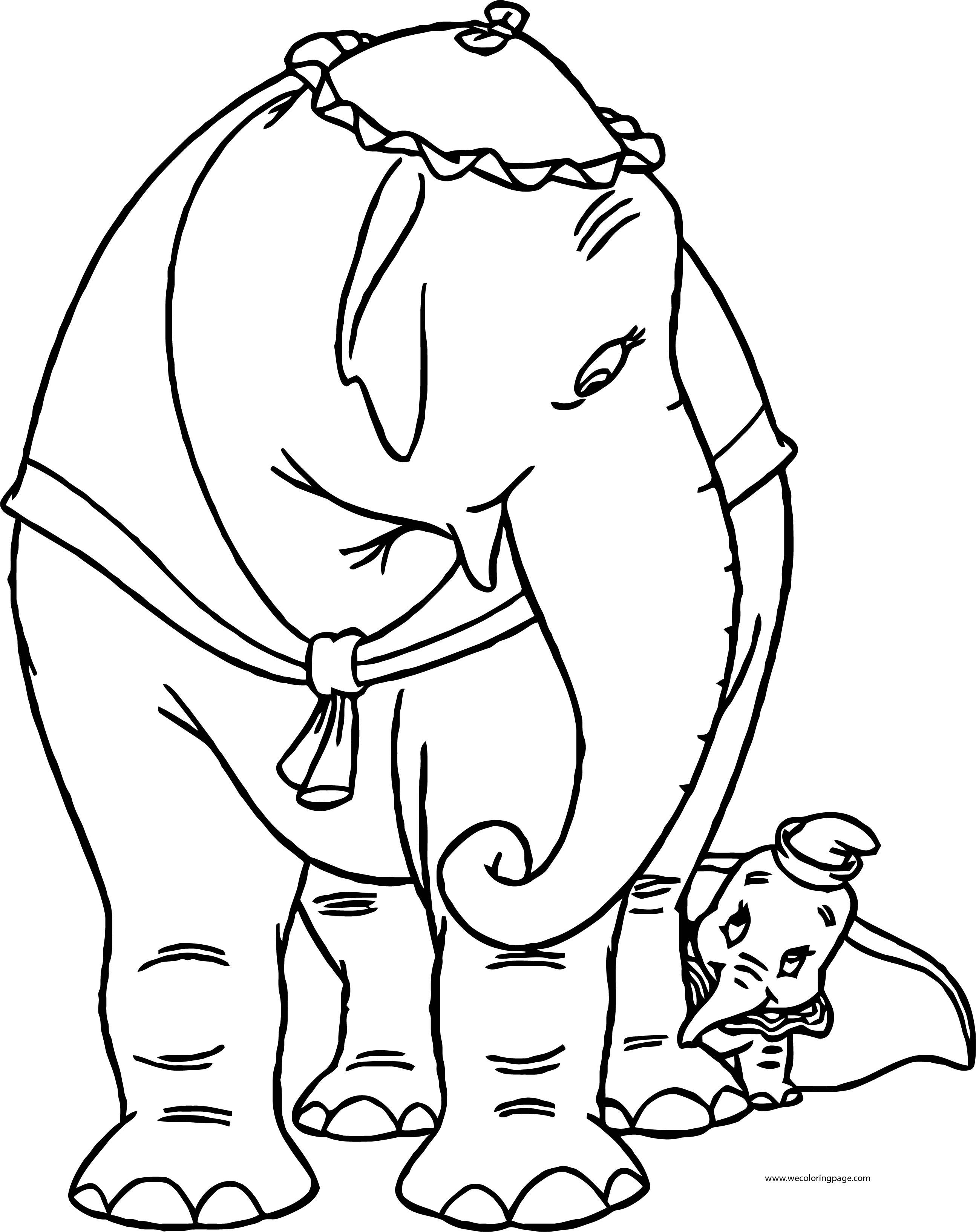 jumbo coloring pages - jumbo 1 coloring pages