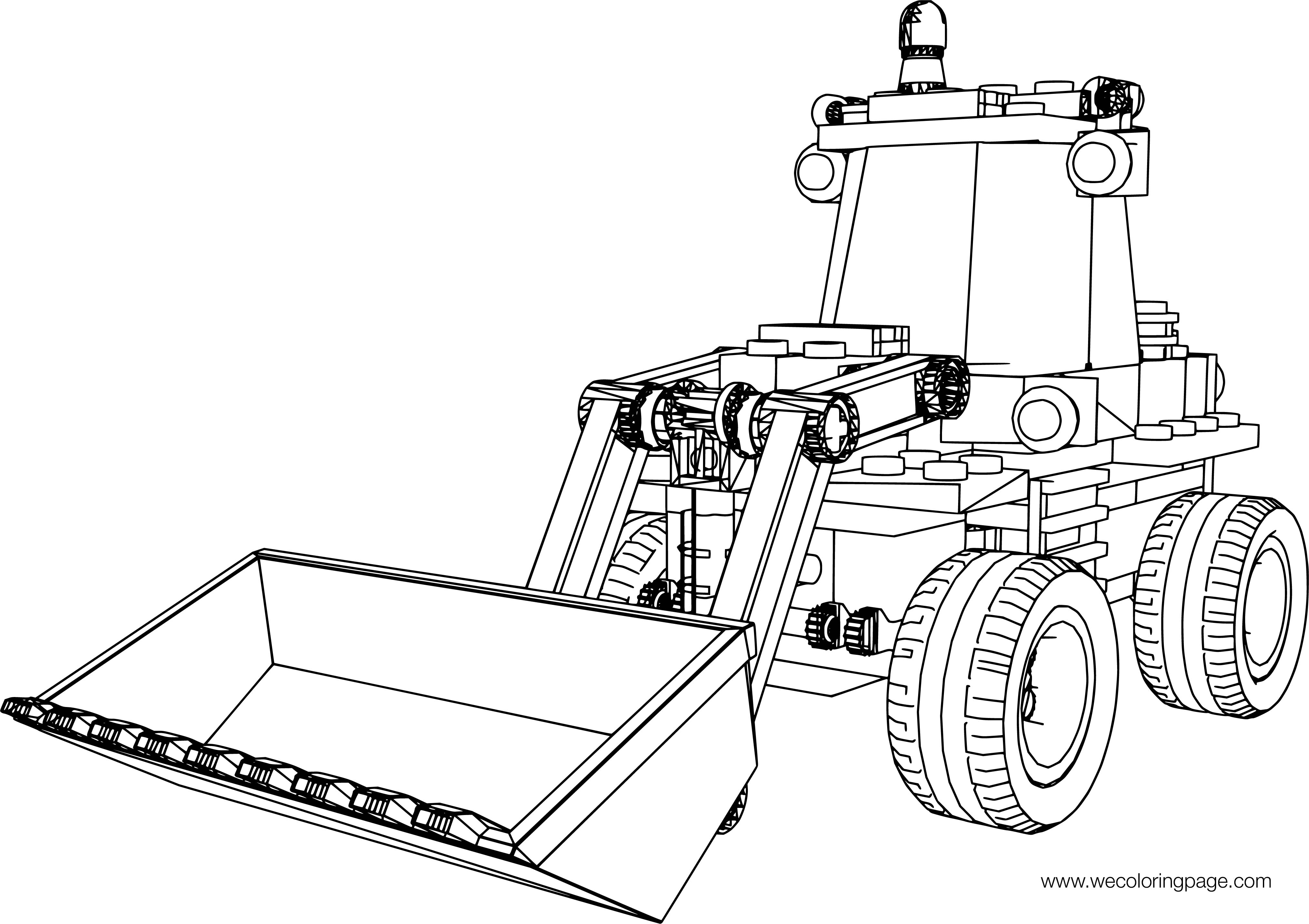 LEGO Excavator Truck Up View Coloring Page