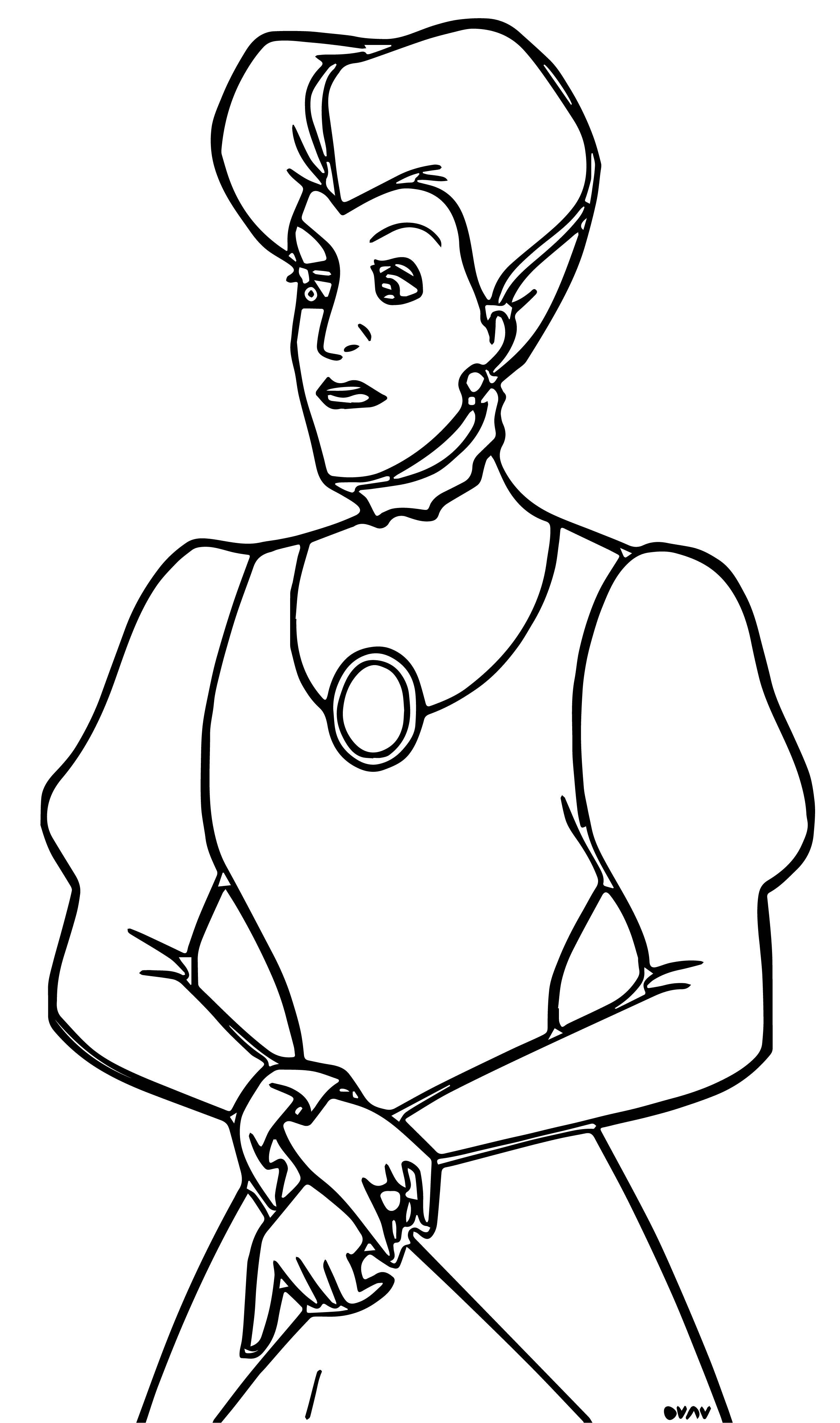 Lady Tremaine Coloring Pages 1