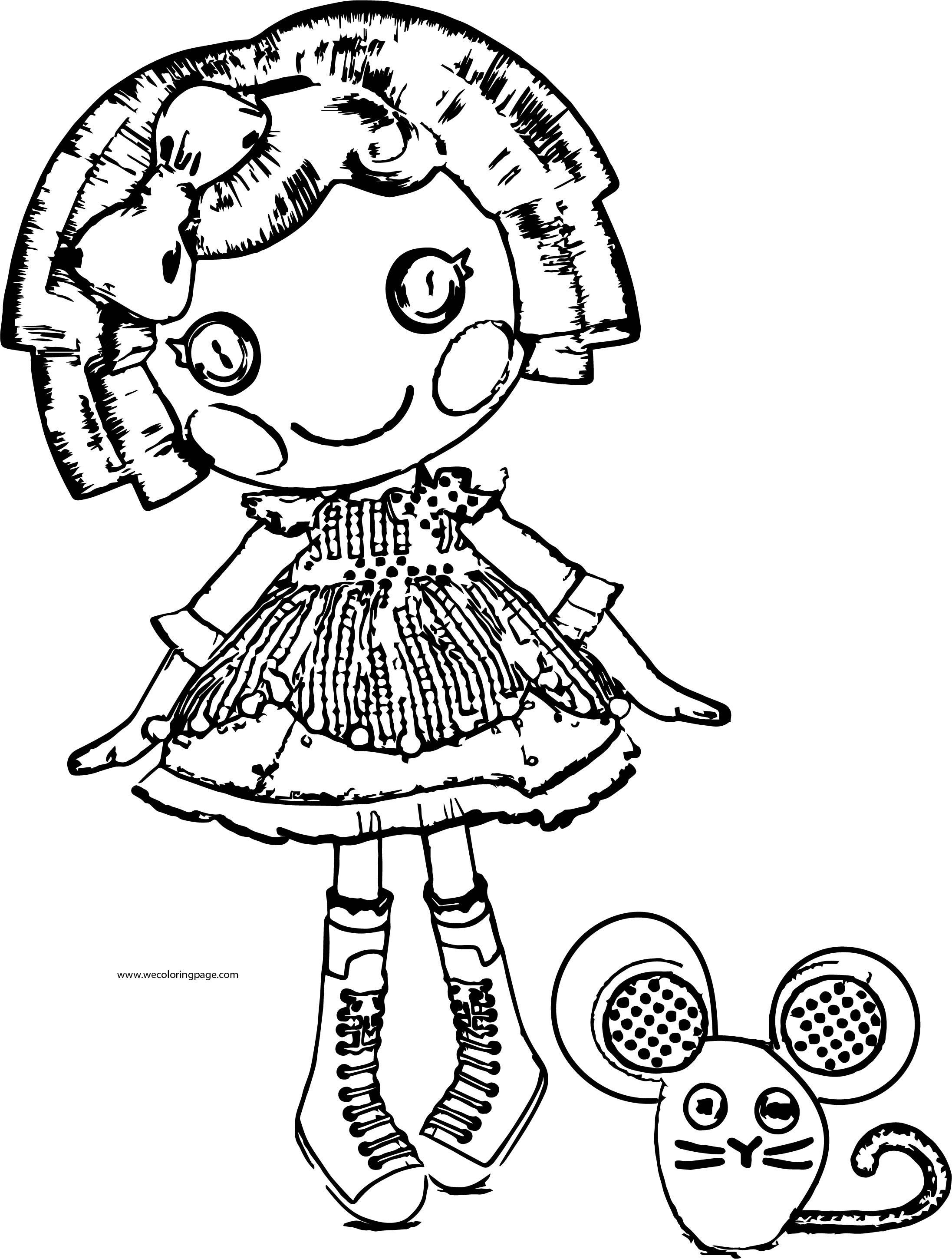 Lll Lalaloopsy Mouse Coloring Page