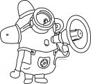 Lovely Decoration Minion Coloring Pages Kevin Bob Despicable Me Outline