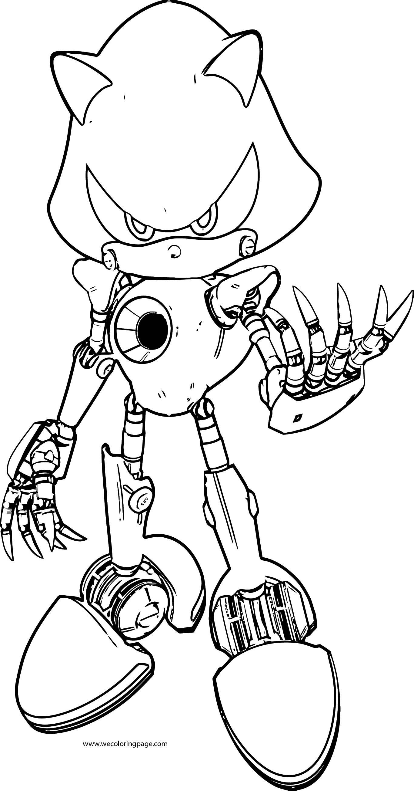 Mechanic Sonic The Hedgehog Coloring Page
