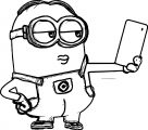 Minion Selfie Large Image Coloring Page