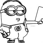 Minion Selfie Large Image Coloring Page