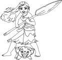Moana Pua Coloring Page