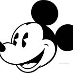 Old Mickey Mouse Face Coloring Page 7