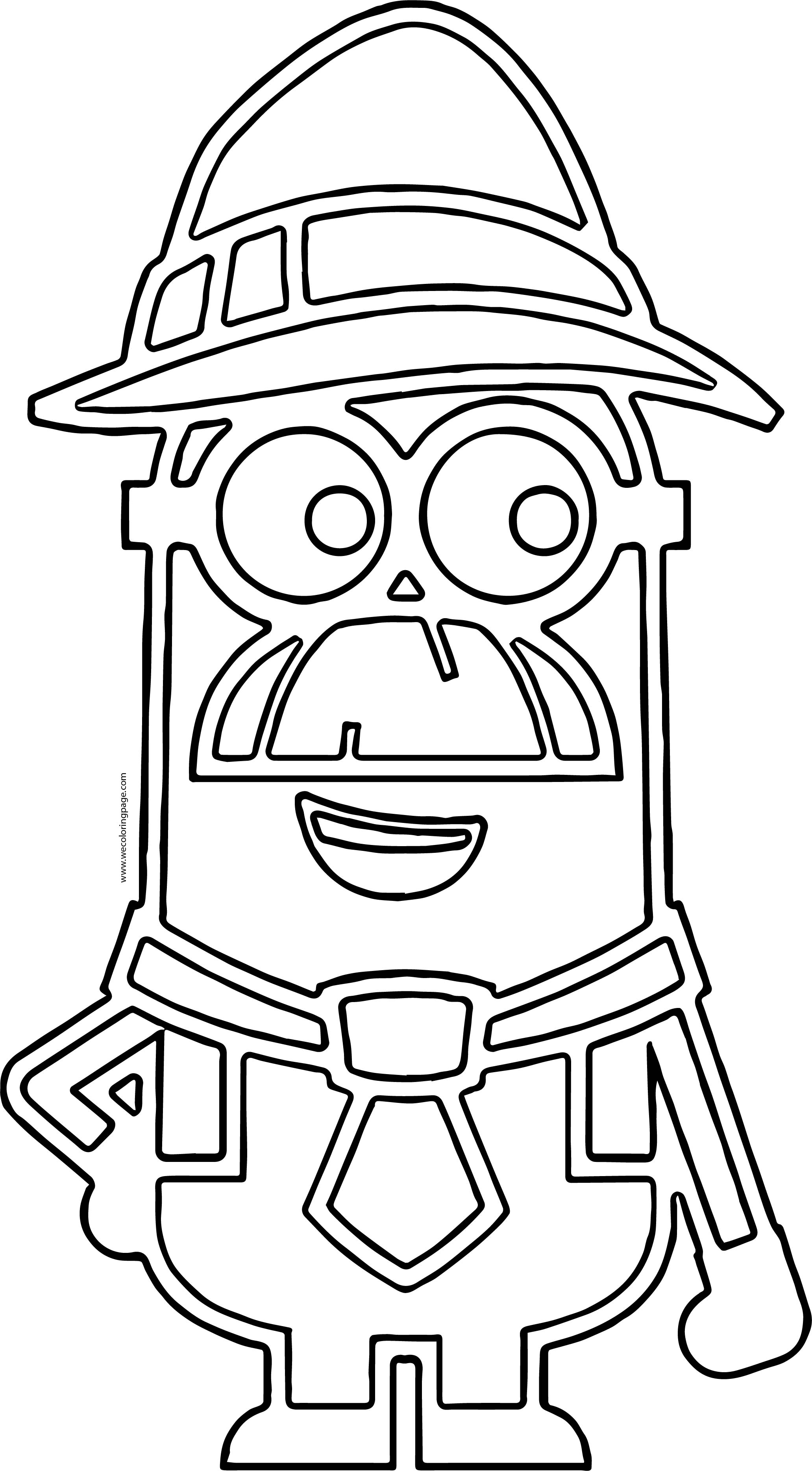 Old Minion Minions Outline Coloring Page