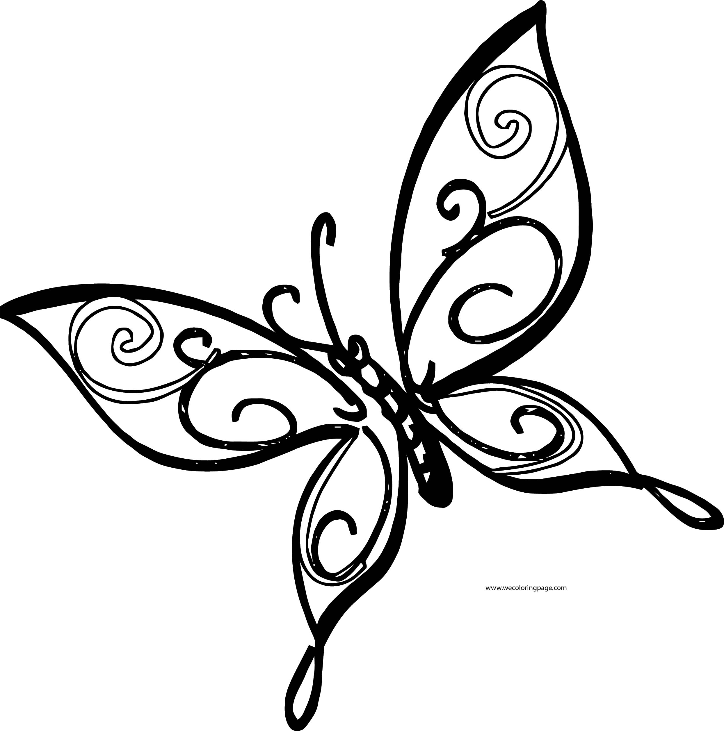 Orniment Great Butterfly Coloring Page