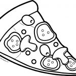 Pizza 12 Coloring Page