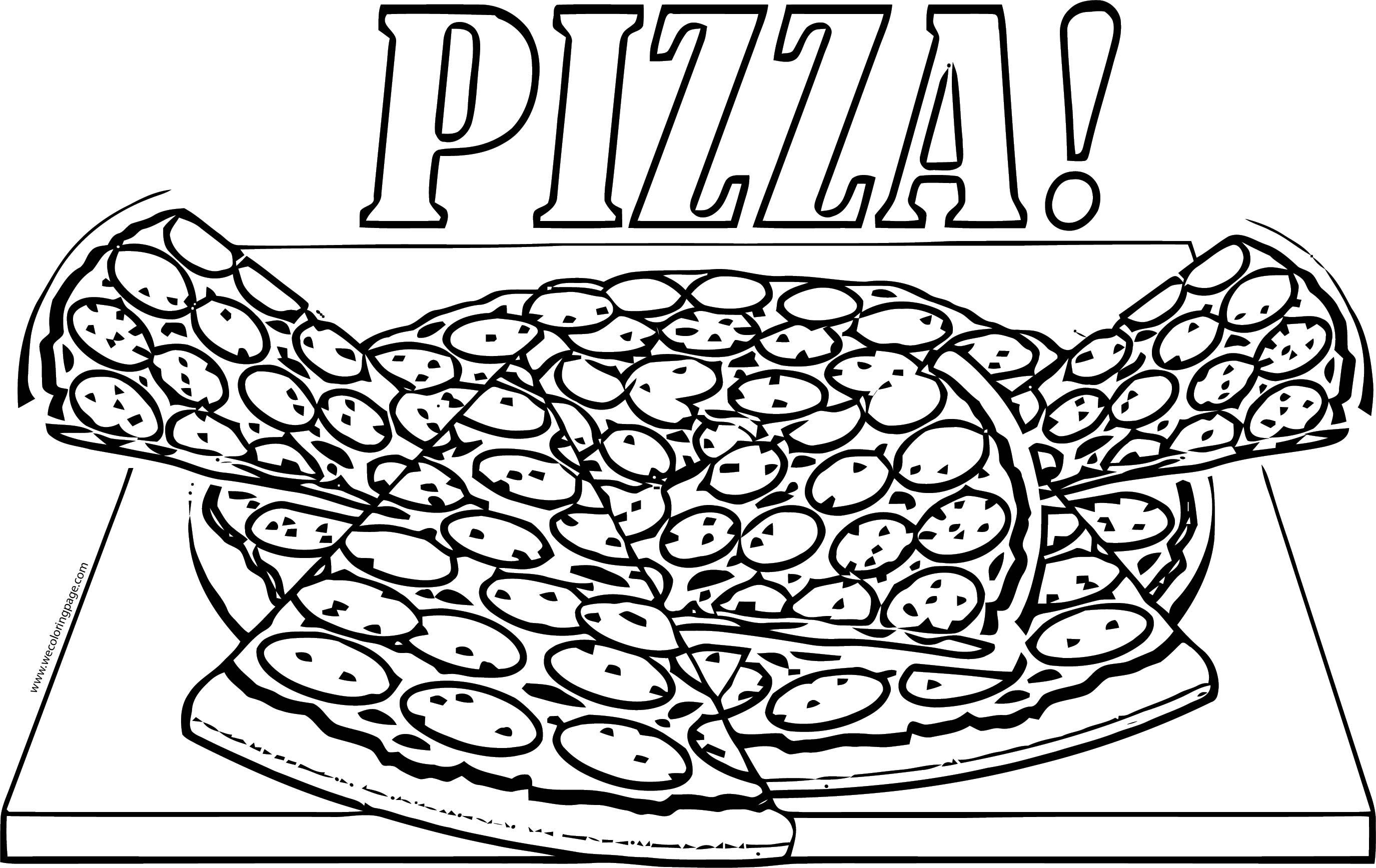 Pizza Box Coloring Page Wecoloringpage