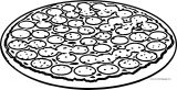 Pizza Box Pizza Box Food Coloring Page