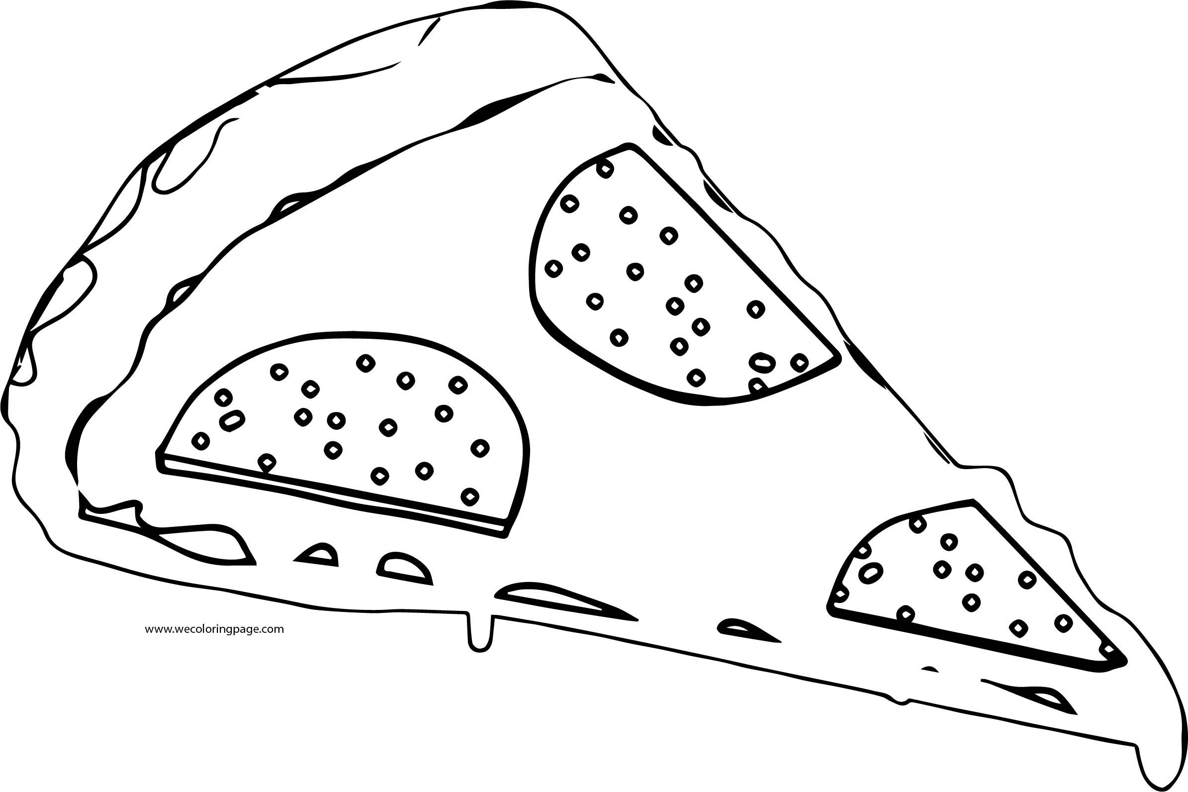 Pizza Coloring Page WeColoringPage 03