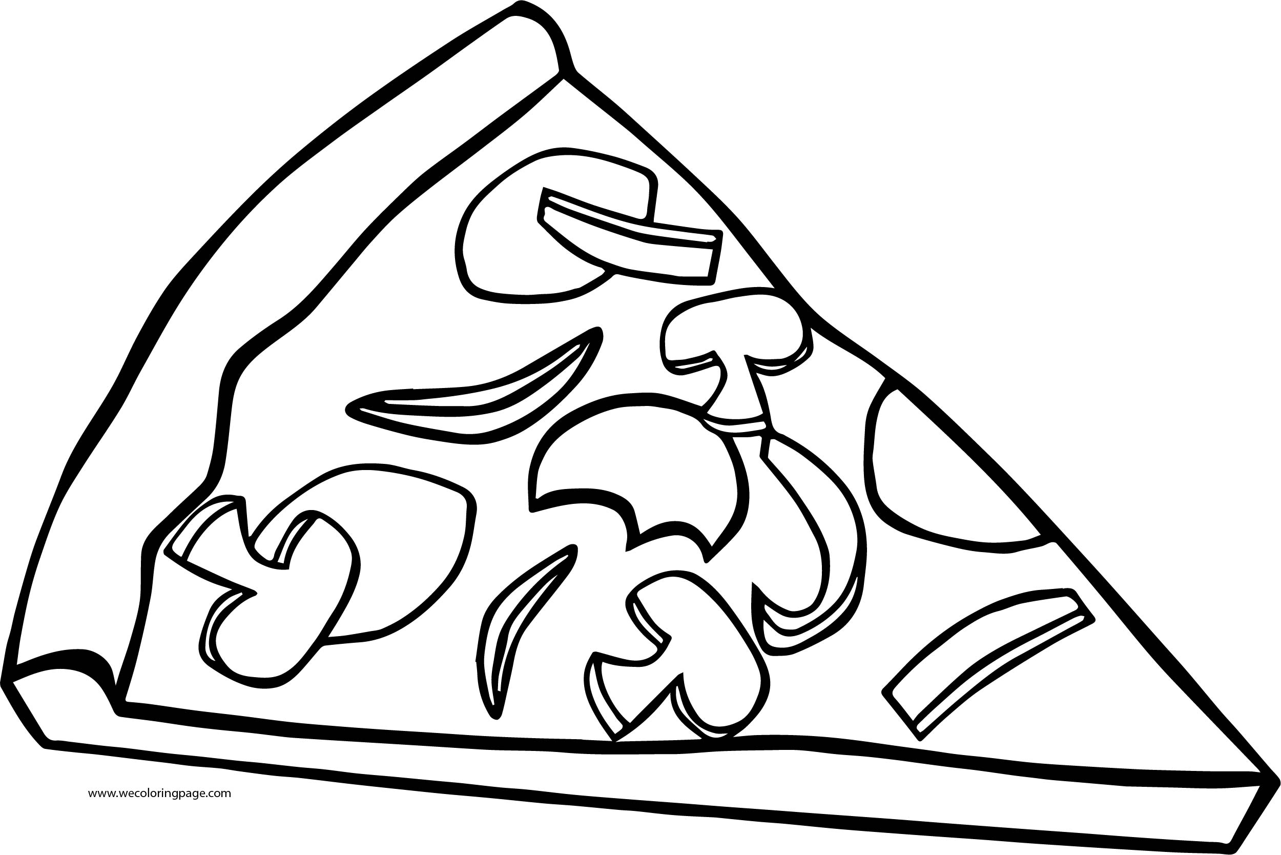 Pizza Coloring Page WeColoringPage 09