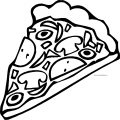 Pizza Coloring Page WeColoringPage 10