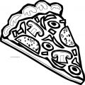 Pizza Coloring Page WeColoringPage 11