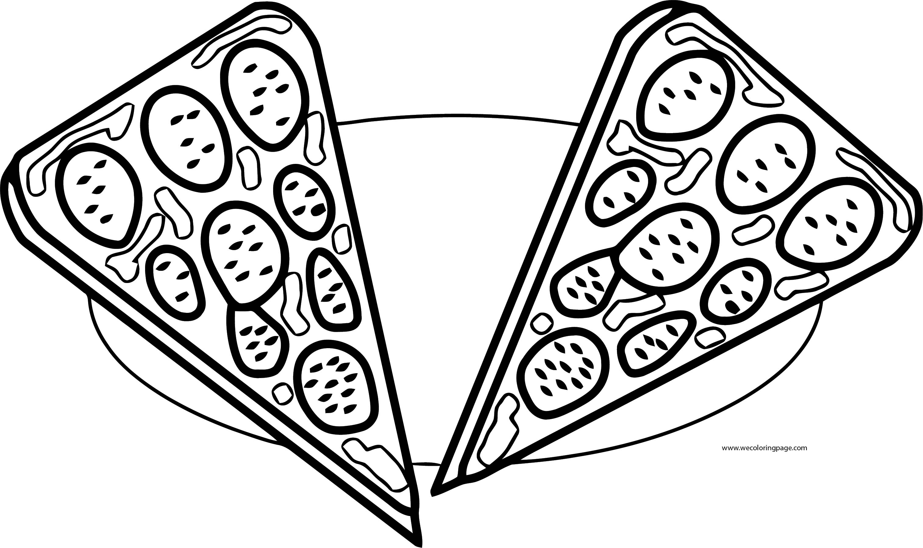Pizza Coloring Page WeColoringPage 23