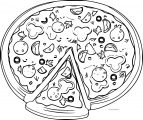 Pizza Coloring Page WeColoringPage 42