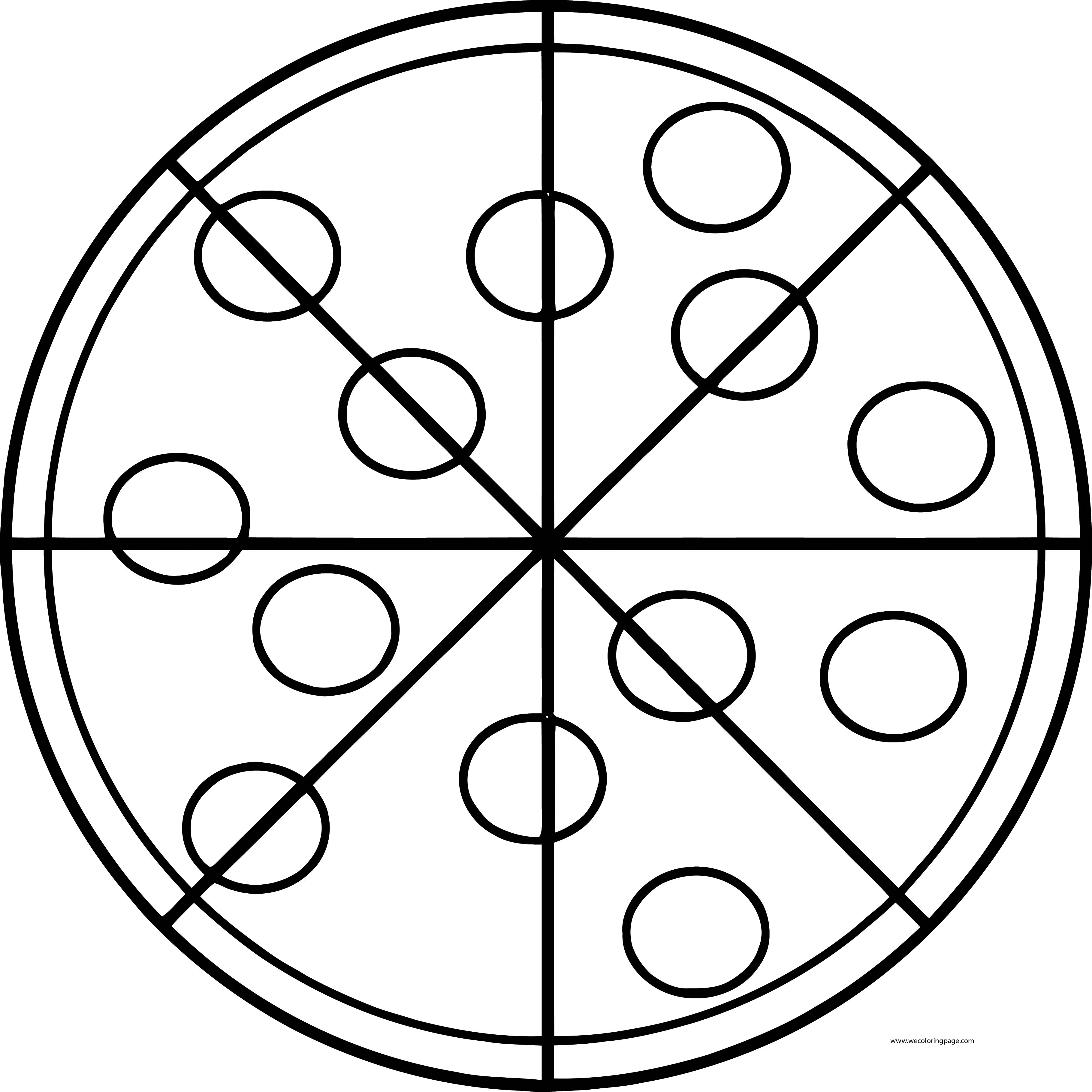 Pizza Coloring Page WeColoringPage 47
