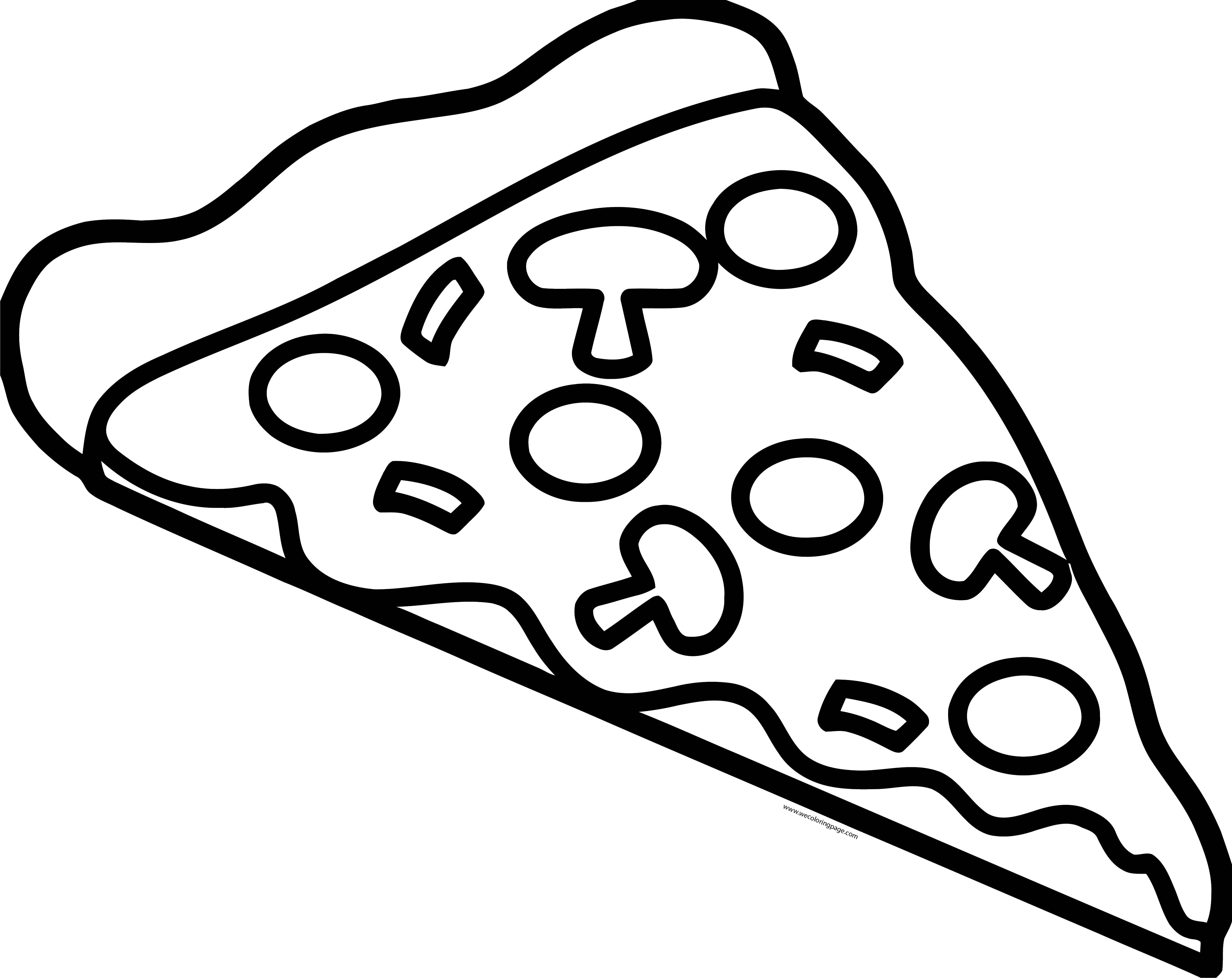Pizza Coloring Page WeColoringPage 61