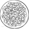 Pizza Free And Stock Illustration Coloring Page