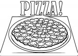 Pizza Free Box Coloring Page