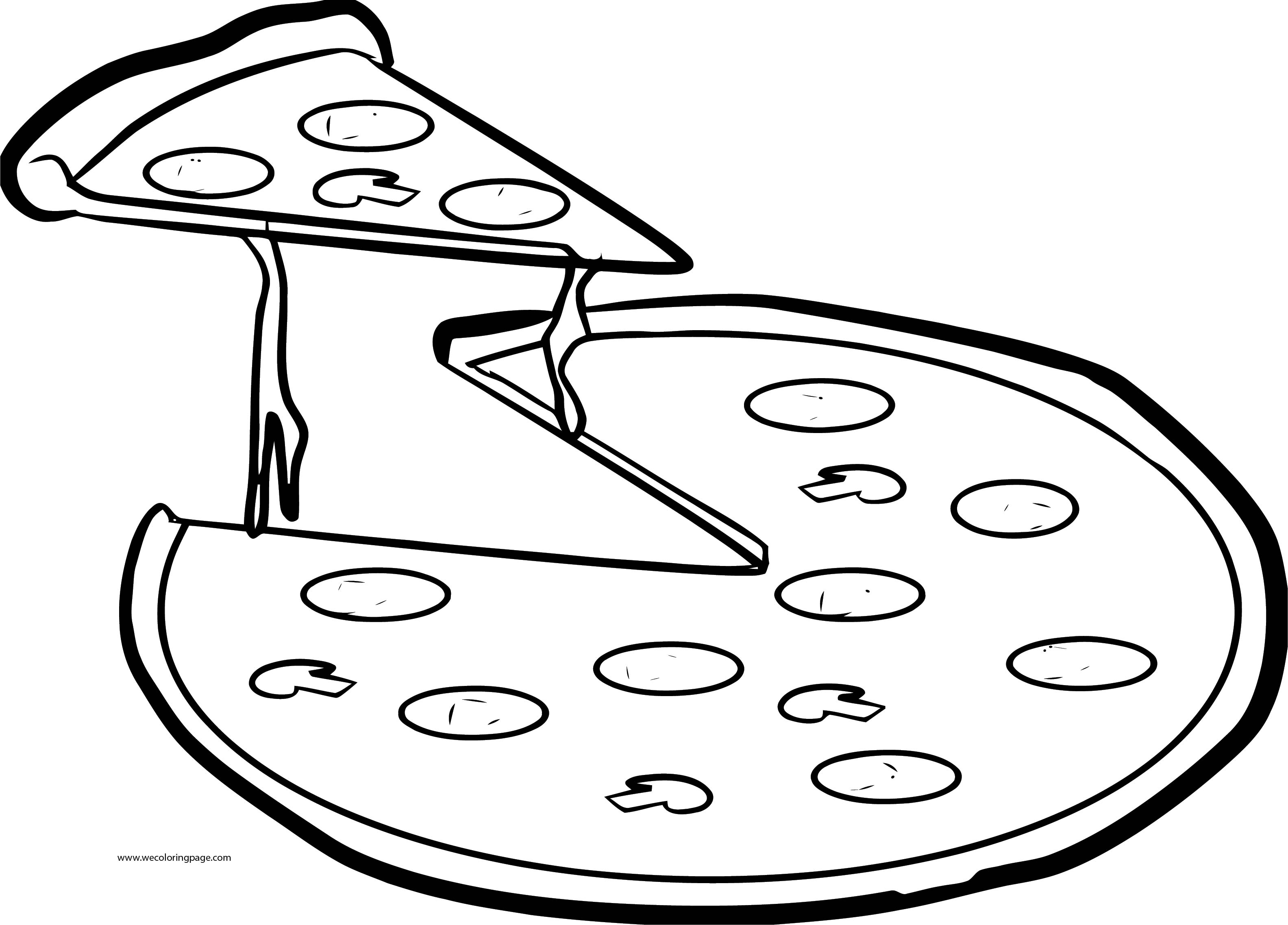 Pizza Images Coloring Page