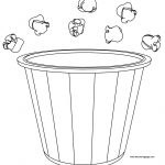 Popcorn Bucket And Pop Coloring Page