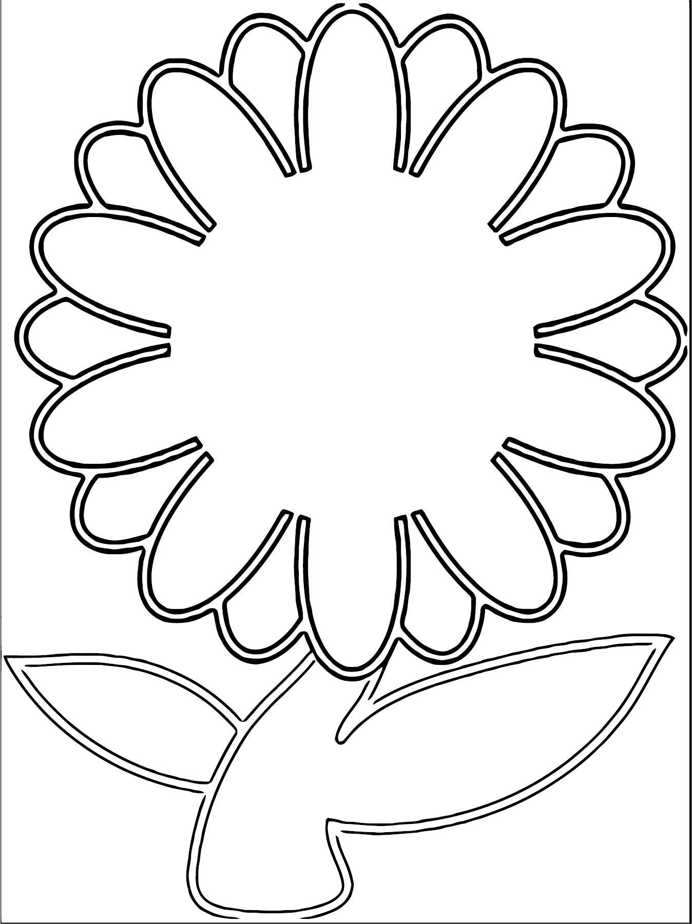 Pretty Flower Graphic In Colors Coloring Page